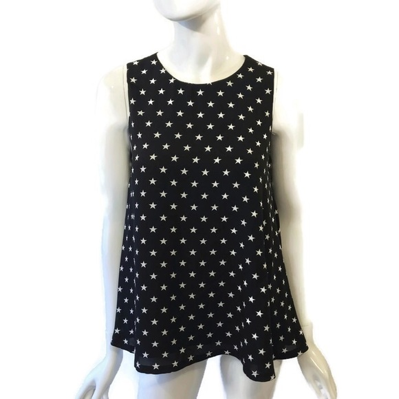 Catherine Malandrino Tops - Catherine Malandrino Star Polka Dot Sleeveless Top